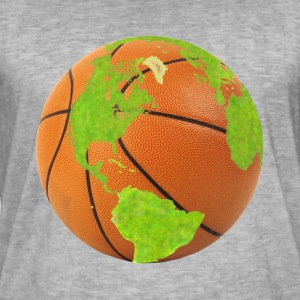 basketball planet earth globe earth globe - Men's Vintage T-Shirt