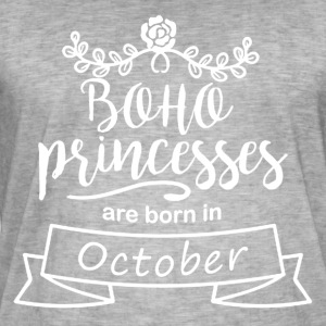 Boho Princesses are born in October - Men's Vintage T-Shirt