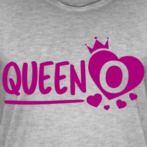 Queen O - Vintage-T-skjorte for menn