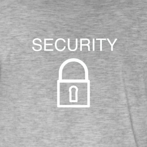 logo security - T-shirt vintage Homme