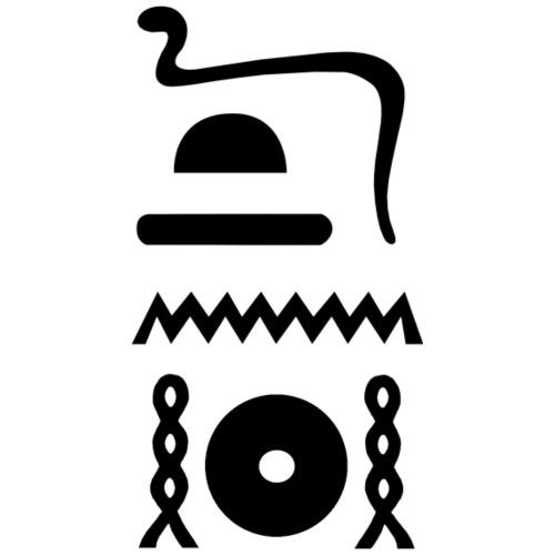 Hieroglyphen: djet-neheh (ewiglich, in Ewigkeit) - Männer Vintage T-Shirt