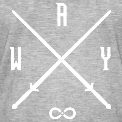 Immortal Way Tai Chi Sword White - Men's Vintage T-Shirt