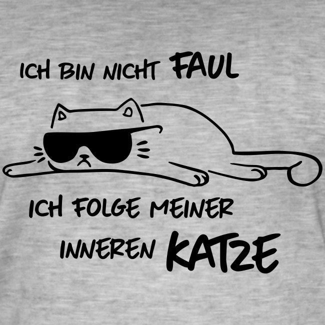 Vorschau: Faul inneren Katze - Männer Vintage T-Shirt