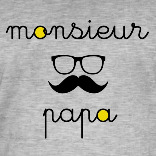 Monsieur papa amo - T-shirt vintage Homme