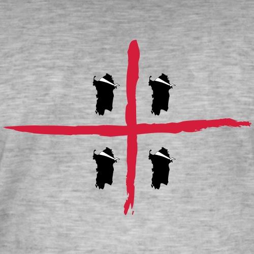 Sardegna Bendata, 4 Mori orizzontale - Maglietta vintage da uomo
