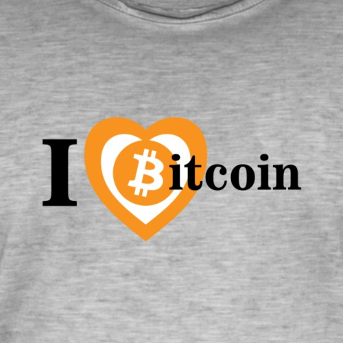 I love bitcoin big - Vintage-T-shirt herr