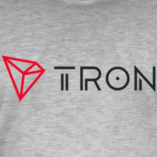 Tronlogo - Vintage-T-shirt herr