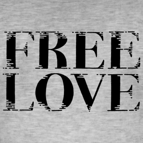 Freie Liebe Free Love - Männer Vintage T-Shirt