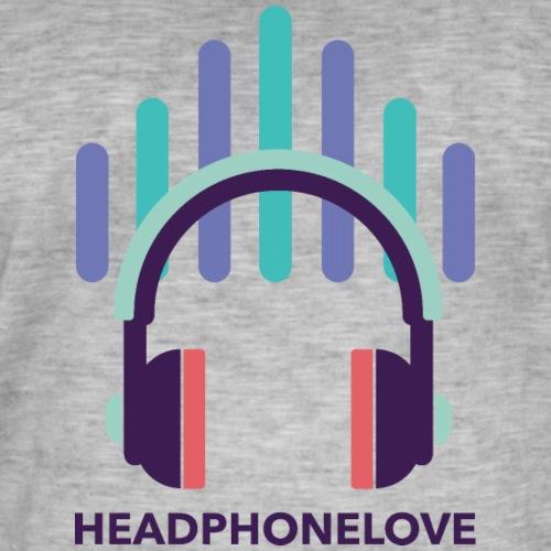 headphonelove - Männer Vintage T-Shirt