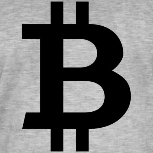 Bitcoin black - Vintage-T-shirt herr