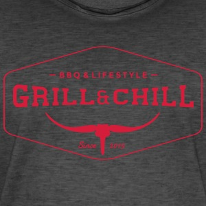 BBQ and Chill / BBQ and Lifestyle logo 1 - Men's Vintage T-Shirt