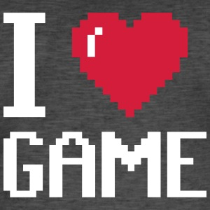 I Love GAME - Vintage-T-skjorte for menn