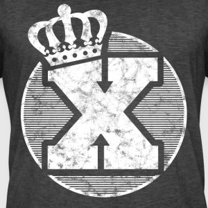 Stylish letter X with crown - Men's Vintage T-Shirt