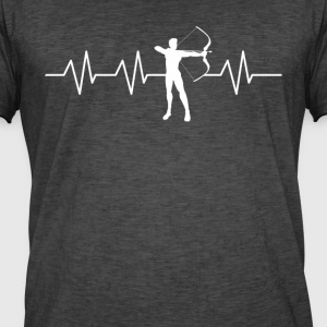Heartbeat Archery - Vintage-T-skjorte for menn