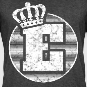 Stylish letter E with crown - Men's Vintage T-Shirt