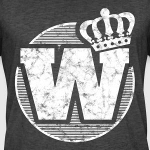 Stylish letter W with crown - Men's Vintage T-Shirt