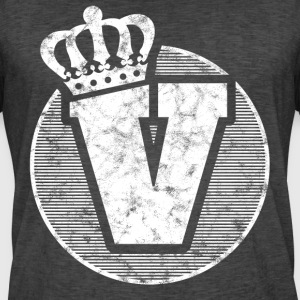 Stylish letter V with crown - Men's Vintage T-Shirt