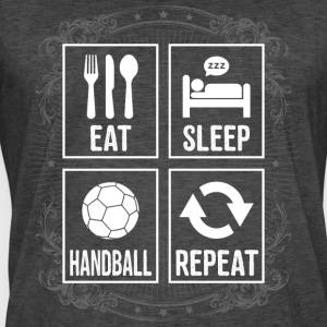 EAT SLEEP HÅNDBOLD REPEAT - Herre vintage T-shirt