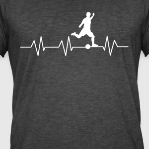 Heartbeat fodbold - Herre vintage T-shirt