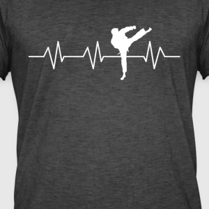 Heartbeat Martial Arts - Herre vintage T-shirt