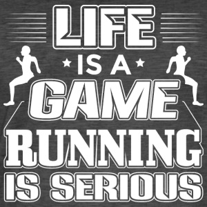 Running Life Is A Game Funny Runner Running Shirt - Männer Vintage T-Shirt