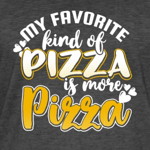 My favorite kind of Pizza is more Pizza - Männer Vintage T-Shirt