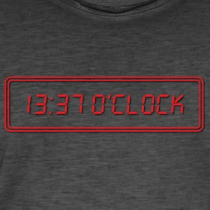 1337 O Clock Red - Männer Vintage T-Shirt