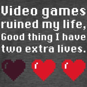 Gamer t-shirt games ruined my life - Men's Vintage T-Shirt