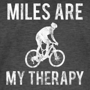 MILES ARE MY THERAPY WHITE - Men's Vintage T-Shirt