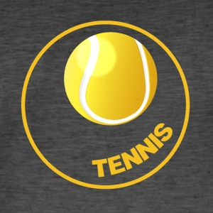 Tennis - Tennis Circle - Tennis Ball - Vintage-T-shirt herr