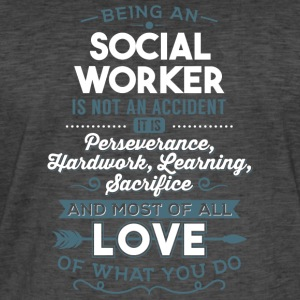 Love what you do - Social Worker - Männer Vintage T-Shirt