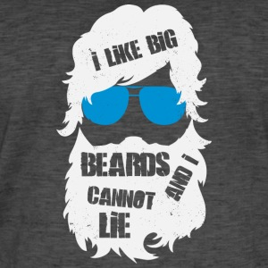 I like Big Beards - beard - Men's Vintage T-Shirt
