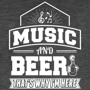 Music AND BEER - Men's Vintage T-Shirt