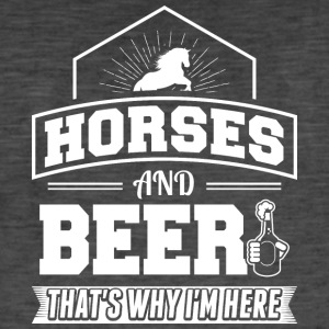 Horses AND BEER - Men's Vintage T-Shirt