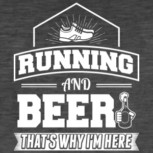 Running AND BEER - Men's Vintage T-Shirt