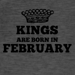 Kings are born in february - Men's Vintage T-Shirt