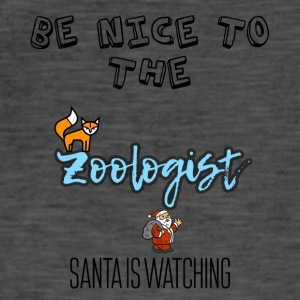Be nice to the zoologist because Santa is watching - Men's Vintage T-Shirt