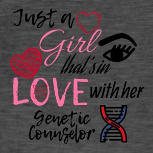 A girl who's in love with her genetic counselor - Men's Vintage T-Shirt