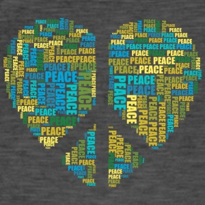 Peace - heart - Men's Vintage T-Shirt