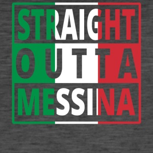 Straight Outta Italia Italie Messina - T-shirt vintage Homme