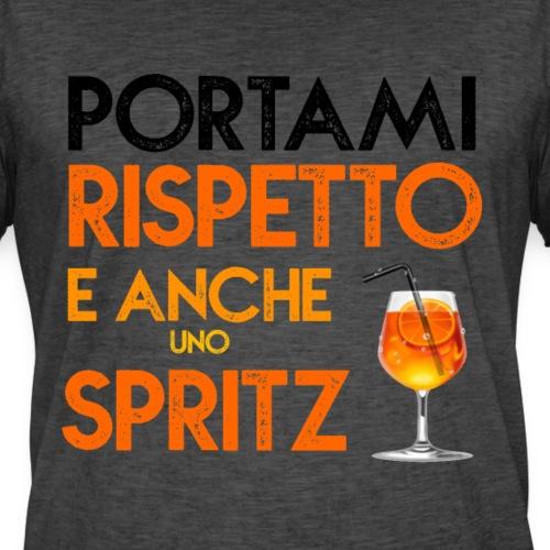 T-shirt Maglia Estiva Happy PORTAMI RISPETTO E ANCHE UNO SPRITZ cool Fun!