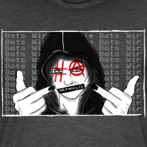 A13v22-1 - Männer Vintage T-Shirt