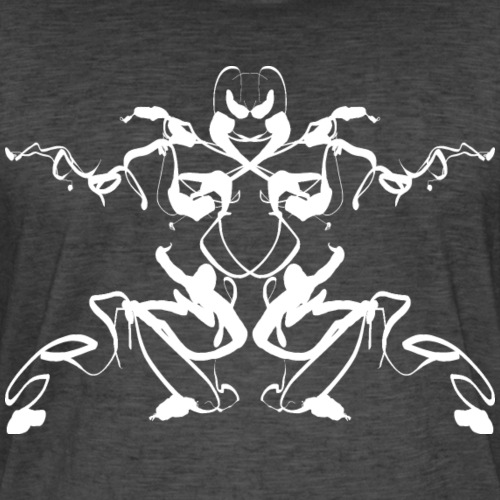 Rorschach test of a Shaolin figure Tigerstyle - Men's Vintage T-Shirt