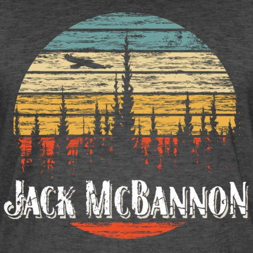 Jack McBannon - Forest Sundown - Männer Vintage T-Shirt