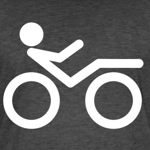Recumbent bike white 2 - Miesten vintage t-paita