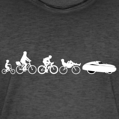 Bicycle evolution white - Miesten vintage t-paita