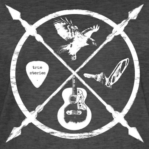 Jack McBannon - Cross Symbols - Männer Vintage T-Shirt