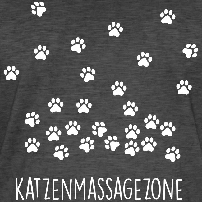 Vorschau: Katzen Massage Zone - Männer Vintage T-Shirt