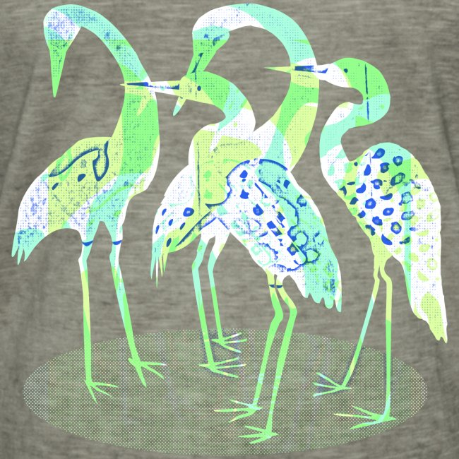 Abstract bird Family. Bright colors