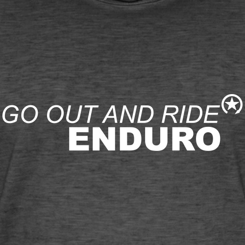 wyjść i jeździć enduro - Koszulka męska vintage